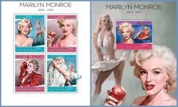 gu14116ab Guinea 2014 Marilyn Monroe 2 s/s