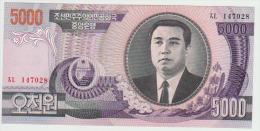 Korea North 5000 Won 2002 Pick 46 UNC - Corée Du Nord
