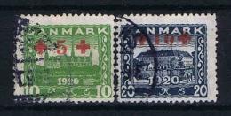 Denmark: 1921 Mi. 116 - 117,  Used - 1913-47 (Christian X)