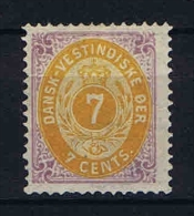 Danish West Indies 1873 , Mi. Nr.8 II Not Used (*), Has A Very Small Fold (2 Mm) At Left Side Just Above The Middle - Denmark (West Indies)