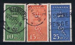 Denmark: 1929 Mi Nr 177 - 179  Used - 1913-47 (Christian X)