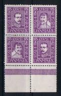 Denmark: 1924 Mi Nr 132-135-138-141. MNH/** Sheet Margin - 1913-47 (Christian X)