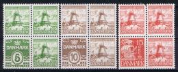 Denmark: 1937 Mi Nr234 - 236  MNH/** From Booklets - 1913-47 (Christian X)