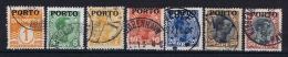 Denmark: 1921 Postage Due  Mi Nr 1 - 7  Used - Port Dû (Taxe)