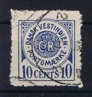 Danish West INdies, 1902 Postage Due Mi Nr 4  Used