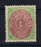 Danish West Indies, 1873 Mi Nr 5 I  MH/* - Deens West-Indië