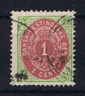 Danish West Indies, 1873 Mi Nr 5 II Used Rahm Kopfst. - Deens West-Indië