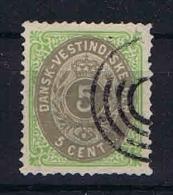 Danish West Indies, 1876 Mi Nr 10 Yv Nr 8 Used - Denmark (West Indies)