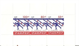 Pays-Bas Netherlands 1985 Stadspost Elfstedentocht Patinage Block Feuille MNH ** - Pays-Bas