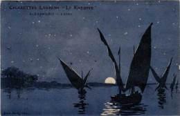 Cigarettes Laurens « Le Khedive », Alexandrie –  Caire – Egypte - Prix Courant 1914, Signée Dorival - Publicité