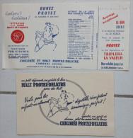 Buvard Malt Protez Delatre Cambrai Bon Cadeau 1956 Chicorée Petit Déjeuner - Papel Secante