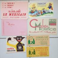 Buvards Café Maurice Robin Familistère Fouquet Mexicain Lot De 7i - Papel Secante