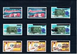 Bénin  1994/2009    (9 Valeurs Thème UPU Surchargées -  Complet) Luxes  Superbes Et TRES RARES - UPU (Unione Postale Universale)