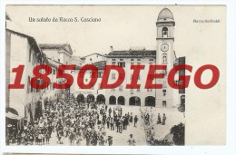 ROCCA S. CASCIANO  - PIAZZA GARIBALDI  FORMATO PICCOLO VIAGGIATA BELLA ANIMAZIONE - Firenze (Florence)
