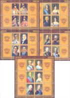 2013. Transnistria, 400y Of The House Of Romanovs, Russian Tsars, 22v In 5 Sheetlets, Mint/** - Royalties, Royals