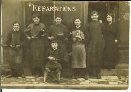 CPA - LANGON - Carte-photo- Réparations Chaussures - Personnel Et Employeurs - Jeune Apprenti - 10425 - Langon