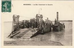 MARENNES -- LE  BAC  TRAVERSANT  LA  SEUDRE - Marennes