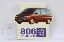 Advertising Matchbox/ Matches - Peugeot 806 Car - Unused - Cajas De Cerillas (fósforos)