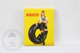 Advertising Matchbox/ Matches -  Pirelli Tires & Blond Girl - Unused - Cajas De Cerillas (fósforos)