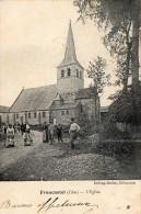 Cpa 1908  FRANCASTEL, Oise, L'église Et Sa Jolie Petite Animation   (39.31) - Francia