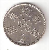 ESPAGNE , Monnaie 100 Pesetas, Juan Carlos I, Coupe Du Monde Football ESPANA 82, 1980 - [5] 1949-…: Monarchie