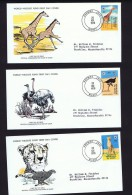 1978  Wildlife: Giraffe, Ostrich, Cheeta   On WWF FDCs With Inserts - Niger (1960-...)