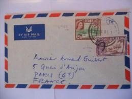 Fidji Lettre De Suva 1961 Pour Paris - Fiji (1970-...)