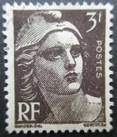 FRANCE Marianne De Gandon N°715a Brun-noir Oblitéré - 1945-54 Marianne De Gandon