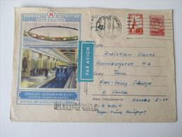 Sowjetunion Ganzsache / Luftpost Station Ismailovskaia / Moscou Metropolitain Vi L Enine