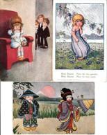 BERTIGLIA 3 CARD-CORTEGGIATA 1006-1-2073-2-1052-1-AUTENTIQUE D´EPOCA ORIGINALE 100% - Bertiglia, A.