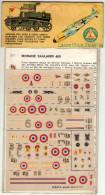INSEGNE  PER  AEREI  E  CARRI  ARMATI , Morane  Saulnier  406  ,  Badges And Markings - Avions & Hélicoptères