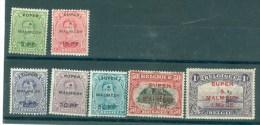België  Bezetting   N° 55/61  Aan 18% Cote  X Scharnier - Guerra '14-'18