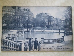 DIJON  - 21 -  LE SQUARE DARCY  ET HOTEL DE LA CLOCHE. - 260614 - - Dijon