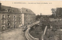 CPA-1920-37-ARTANNES-LES PONTS Sur L INDRE Et LE MOULIN-TBE - Other Municipalities
