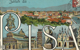 S S 945 / CPA    ITALIE  - PISA - SALUTI DA PASA - Pisa