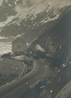 France 74 Haute Savoie. Chamonix. Ancienne Photo ND 525. La Mer De Glace Et La Gare Montanvert Avec Trains. - Lieux
