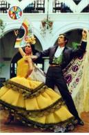 Flamenco Vintage Postcard (embroidery Fabric) -  - Size 15x10 Cm. Aprox. - Baile