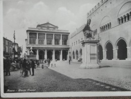 RIMINI  PIAZZA CAVOUR 1934 - Cartoline