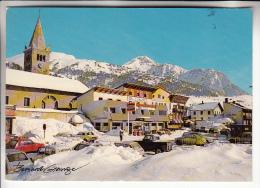 MONTGENEVRE 05 - Centre Ville Enneigé - Station Service TOTAL ( Pompes à Essence ) Autos 2 CV ... CPSM GF - Hautes Alpes - France