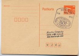 LINGUISTENKONGRESS Berlin 1987 Auf DDR P86 I  Postkarte - Sprachen