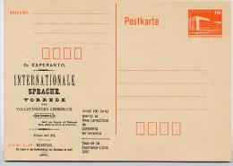 DDR P86II-8-87 C9 Postkarte Privater Zudruck ESPERANTO-BUCH Leipzig 1988 - Esperanto
