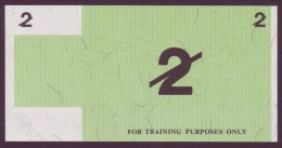Test Note  - Training Note, 2 Units, Both Sides,  UNC  Rare - Australien