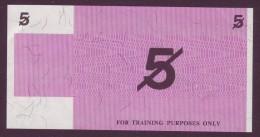Test Note  - Training Note, 5 Units, Both Sides,  UNC  Rare - Australien