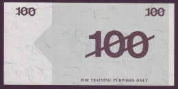 Test Note  - Training Note, 100 Units, Both Sides,  UNC  Rare - Australien