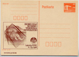 ESPERANTO MEDIZIN Leipzig DDR P86II-5-88 C12 Postkarte Privater Zudruck 1988 - Esperanto