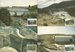 South Africa / Transkei - 1986 Hydro Electric Power Stations Maximum Cards - Full Set Of 4 - Edificio & Architettura