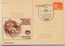 ESPERANTO MEDIZIN DDR P86II-5-88 C12 Postkarte Privater Zudruck Leipzig Sost. 1988 - Esperanto