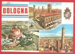 CARTOLINA VG ITALIA - BOLOGNA - Panorama - Vedutine - 10 X 15 - ANNULLO BOLOGNA 1966 - Bologna