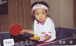 Télécarte JAPON * Table Tennis (334) TISCHTENNIS * Ping Pong * Tennis De Table * JAPAN *  TAFELTENNIS * - Sport