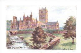 Vintage St Davids Cathedral Arthur Payne UK United Kingdom Tuck Oilette Postcard Arthur C Payne - Pembrokeshire